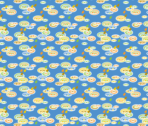Pitter Pattern in blue fabric by pininkie on Spoonflower - custom fabric