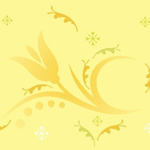 Tulip Mist large in yellow © 2009 Gingezel™ Inc.
