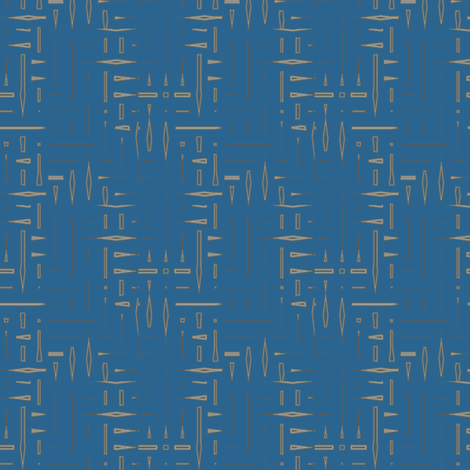 Blue Twigs © 2009 Gingezel™ Inc. fabric by gingezel on Spoonflower - custom fabric