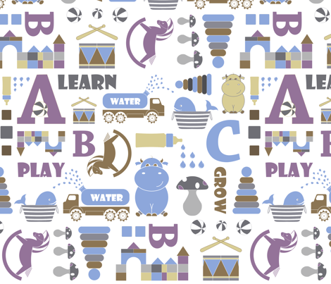 My toys come alive... fabric by newmom on Spoonflower - custom fabric