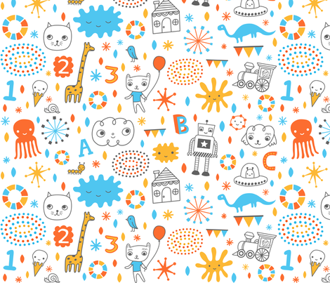 sweet doodles fabric by liz-adams on Spoonflower - custom fabric