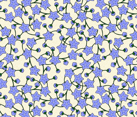 Chinese Balloonflowers - Rice fabric by siya on Spoonflower - custom fabric