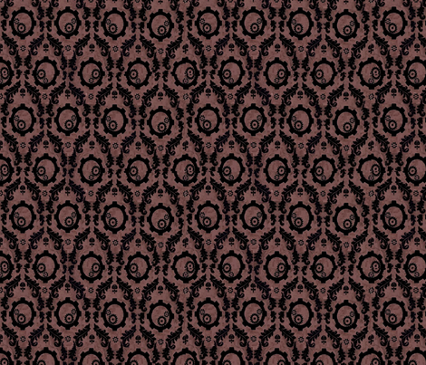black_gear_damask fabric by blackfeatherswan on Spoonflower - custom fabric