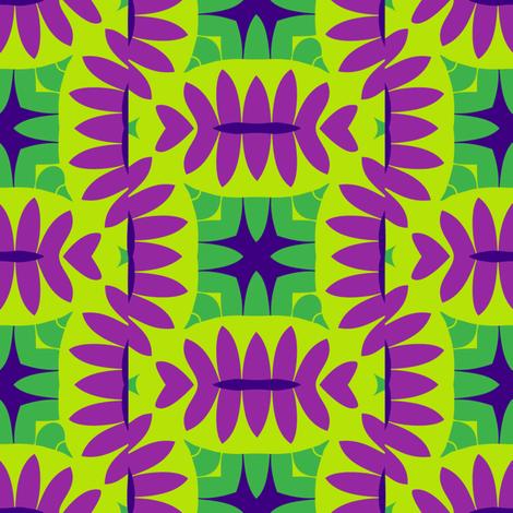 Mandorle (Green & Magenta) fabric by nekineko on Spoonflower - custom fabric