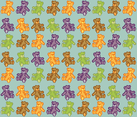 Baby Bear fabric by woodle_doo on Spoonflower - custom fabric