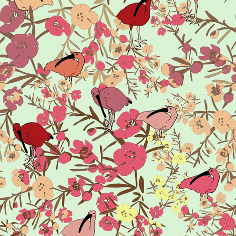 Teja_Williams_Waterbirds_2007 fabric by teja_jamilla on Spoonflower - custom fabric