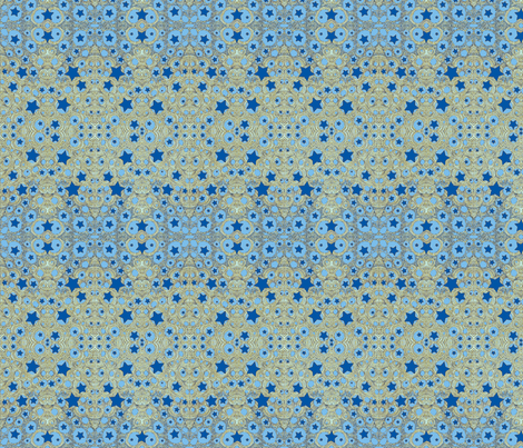 JamJax Blue Star fabric by jamjax on Spoonflower - custom fabric