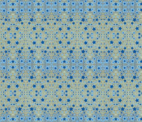 JamJax Blue Star fabric by jamjax on Spoonflower - custom fabric