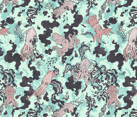 Squid-Ink_by_Teja_Jamilla fabric by teja_jamilla on Spoonflower - custom fabric