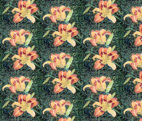 Day Lily Corsage fabric by cricketswool on Spoonflower - custom fabric