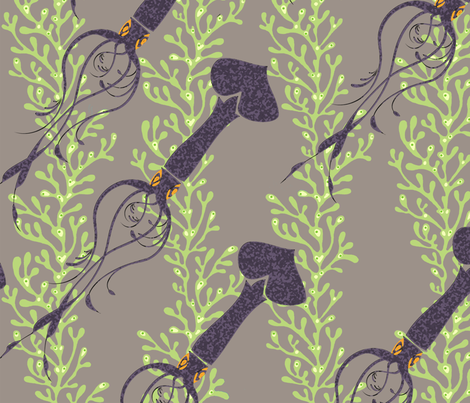 squidseaweedlarge_copy fabric by kimkim on Spoonflower - custom fabric