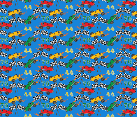 Liam's speedway fabric by littlerhodydesign on Spoonflower - custom fabric