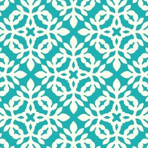 BRIGHT TURQUOISE & cream mini-papercut2