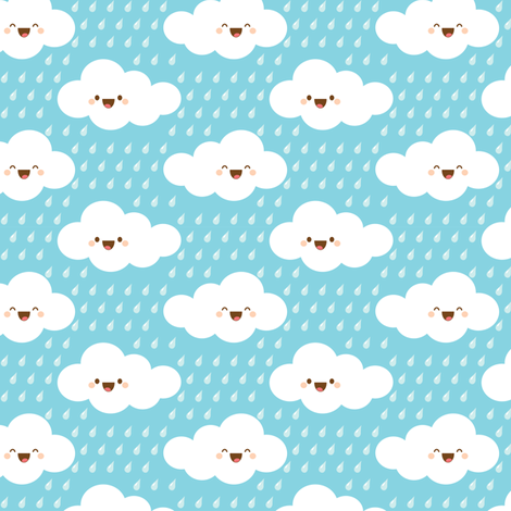 Happy Rain fabric by jazzypatterns on Spoonflower - custom fabric