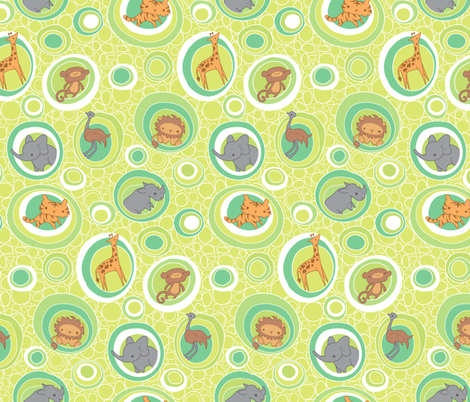 Safari Bubbles fabric by jillianmorris on Spoonflower - custom fabric