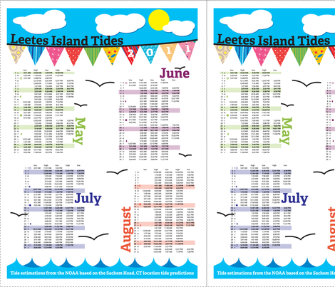 Tea Towel Tide Charts fabric by terriann on Spoonflower - custom fabric