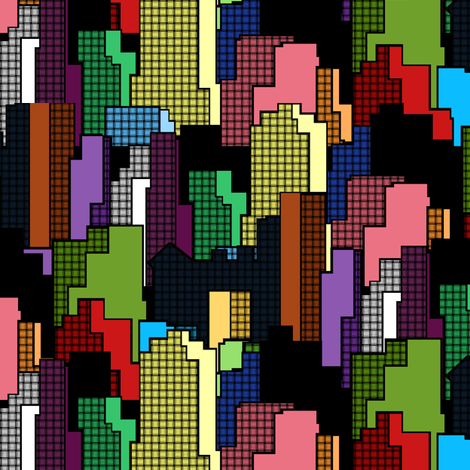 Cityscape fabric by pond_ripple on Spoonflower - custom fabric