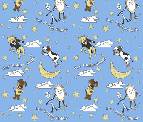 Hey Diddle Diddle - Boy fabric by shadowfell on Spoonflower - custom fabric