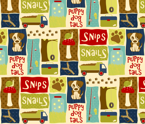 What Little Boys Are Made Of fabric by inktreepress on Spoonflower - custom fabric