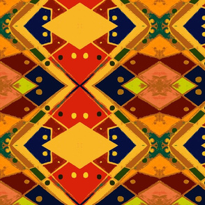 Abstract Tribal Pattern by Cindy Wilson