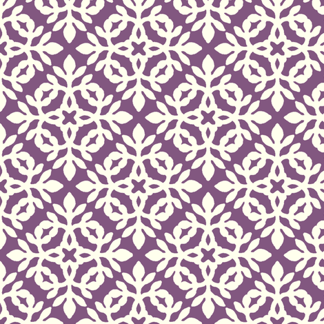 DARK BERRY & cream mini-papercut2 fabric by mina on Spoonflower - custom fabric