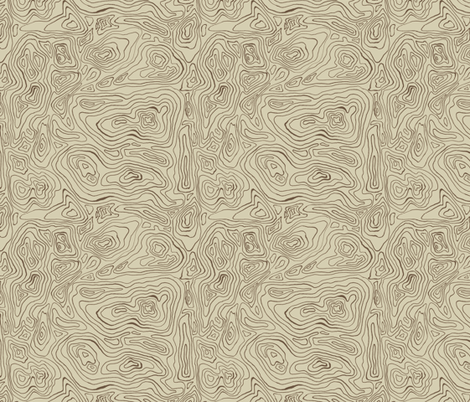 Old Mapping Contours fabric by woodle_doo on Spoonflower - custom fabric