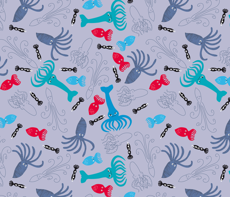 Squidding around fabric by feinstarbeiten on Spoonflower - custom fabric