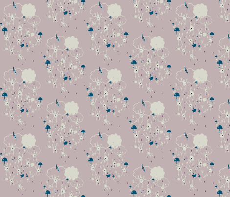 Free Rain fabric by tracydb70 on Spoonflower - custom fabric