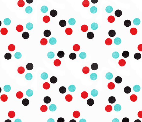 scribble dot one  fabric by cristinapires on Spoonflower - custom fabric