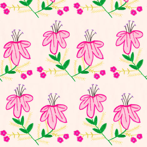 Flora Flower Holly fabric by angelgreen on Spoonflower - custom fabric