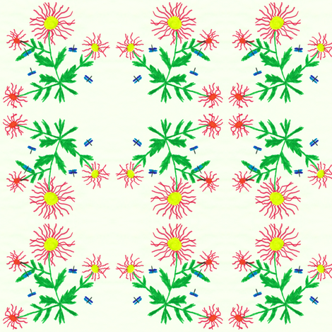 Flora Flower Summerdance fabric by angelgreen on Spoonflower - custom fabric