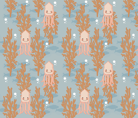 Little Squidy fabric by cilla on Spoonflower - custom fabric
