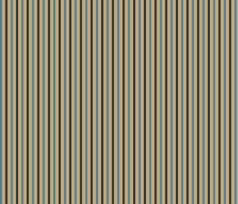 Brown and blue stripes fabric by suziedesign on Spoonflower - custom fabric