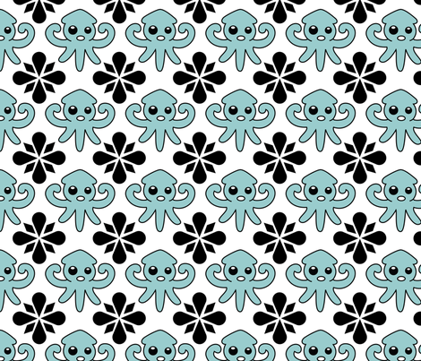 squid pattern fabric by suzannahashley on Spoonflower - custom fabric