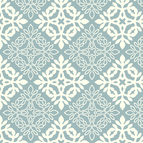 GRAY-GREEN mini-papercut3-solid-outlines fabric by mina on Spoonflower - custom fabric