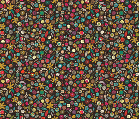 daffodil ditsy pop small fabric by scrummy on Spoonflower - custom fabric