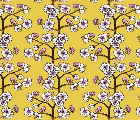 Sakura (Cherry Blossom) fabric by kim_buchheit on Spoonflower - custom fabric