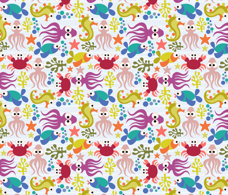 Under the Sea fabric by valentinaramos on Spoonflower - custom fabric