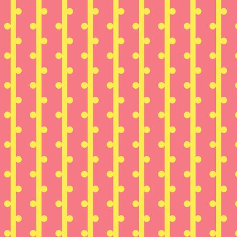 grab your pompoms (lemon) ©2012 Jill Bull fabric by palmrowprints on Spoonflower - custom fabric