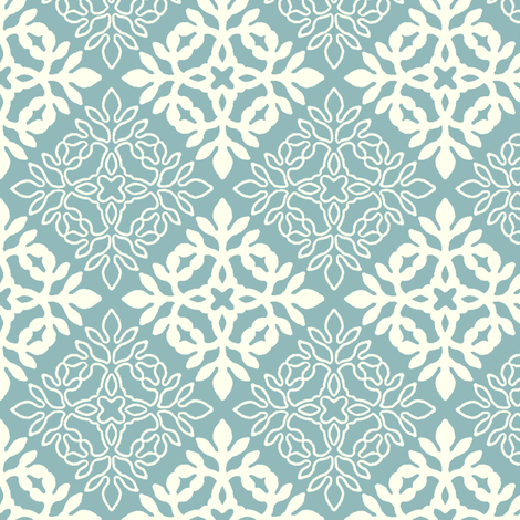 AQUA_Mini-papercut3-solid-outlines fabric by mina on Spoonflower - custom fabric