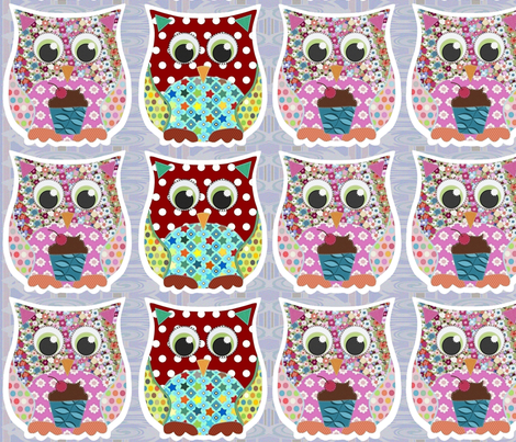 owlies for tees fabric by scrummy on Spoonflower - custom fabric