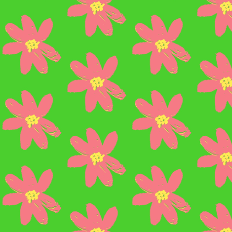 bubblegum daisy ©2012 Jill Bull fabric by fabricfarmer_by_jill_bull on Spoonflower - custom fabric
