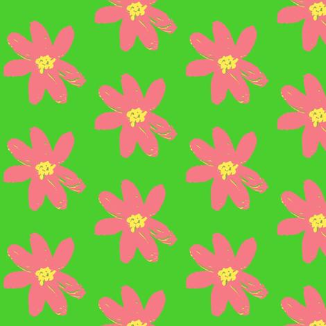 bubblegum daisy ©2012 Jill Bull fabric by palmrowprints on Spoonflower - custom fabric