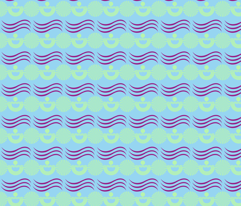 Beachie Pomp II fabric by captiveinflorida on Spoonflower - custom fabric
