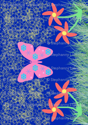 Snow-Butterfly at Starry Flowers Field (in blue colorway)