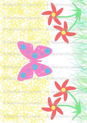 Snow-Butterfly at Starry Flowers Field (in white colorway)