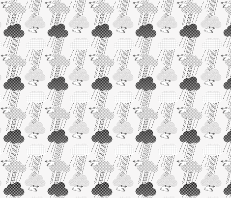 Rainyclouds fabric by loki_and_lamb on Spoonflower - custom fabric