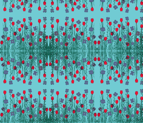 field of flowers fabric by tallulah11 on Spoonflower - custom fabric