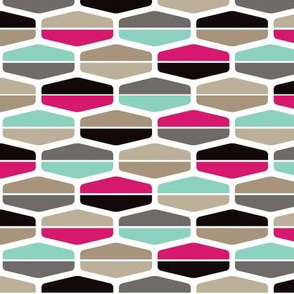 half hexagon stripes