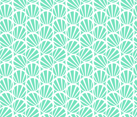 circles and stripes teal fabric by myracle on Spoonflower - custom fabric